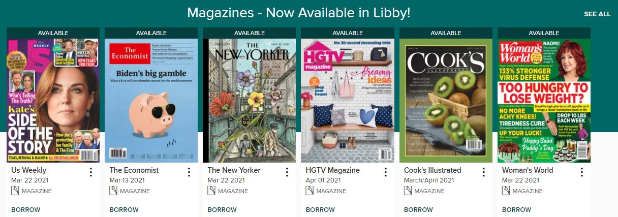 Magazines in Libby